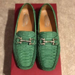 Parigi Green Pyton loafers